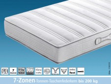 Dura 200 TA / 7-Zonen-Tonnen-Taschenfederkernmatratze / bis 200 kg